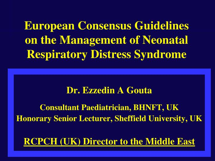 neonatal respiratory distress syndrome Neonatal respiratory distress syndrome (rds) is a problem often seen in premature babies the condition makes it hard for the baby to breathe neonatal rds occurs in infants whose lungs have not yet fully developed the disease is mainly caused by a lack of a slippery substance in the lungs called.