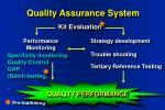 quality assurance system