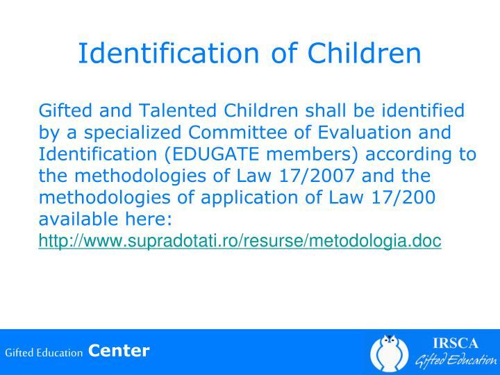 Identification of Children