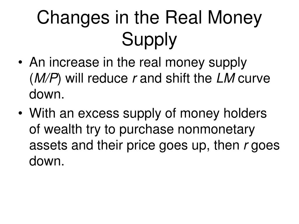 Changes in the Real Money Supply
