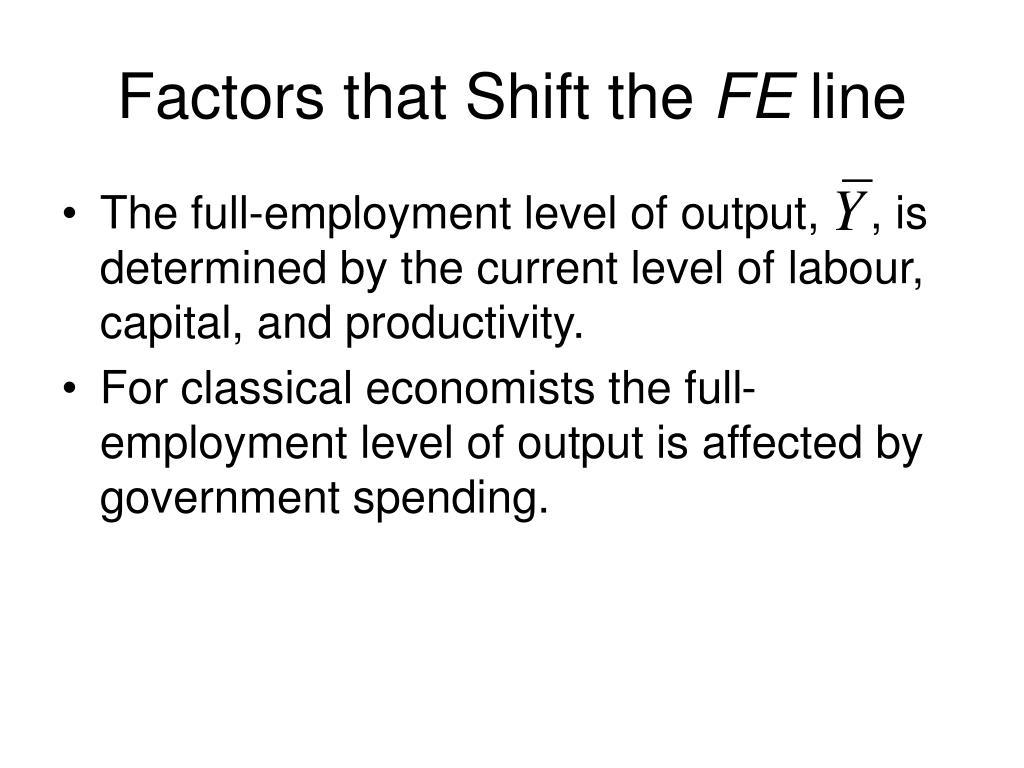 Factors that Shift the