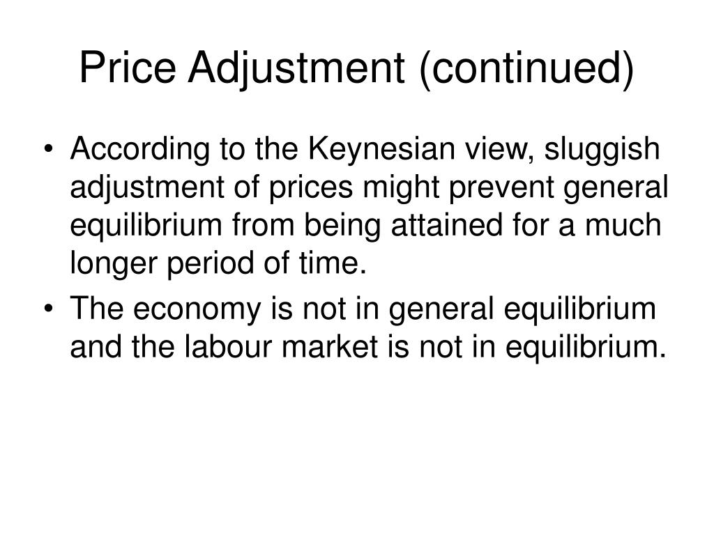 Price Adjustment (continued)