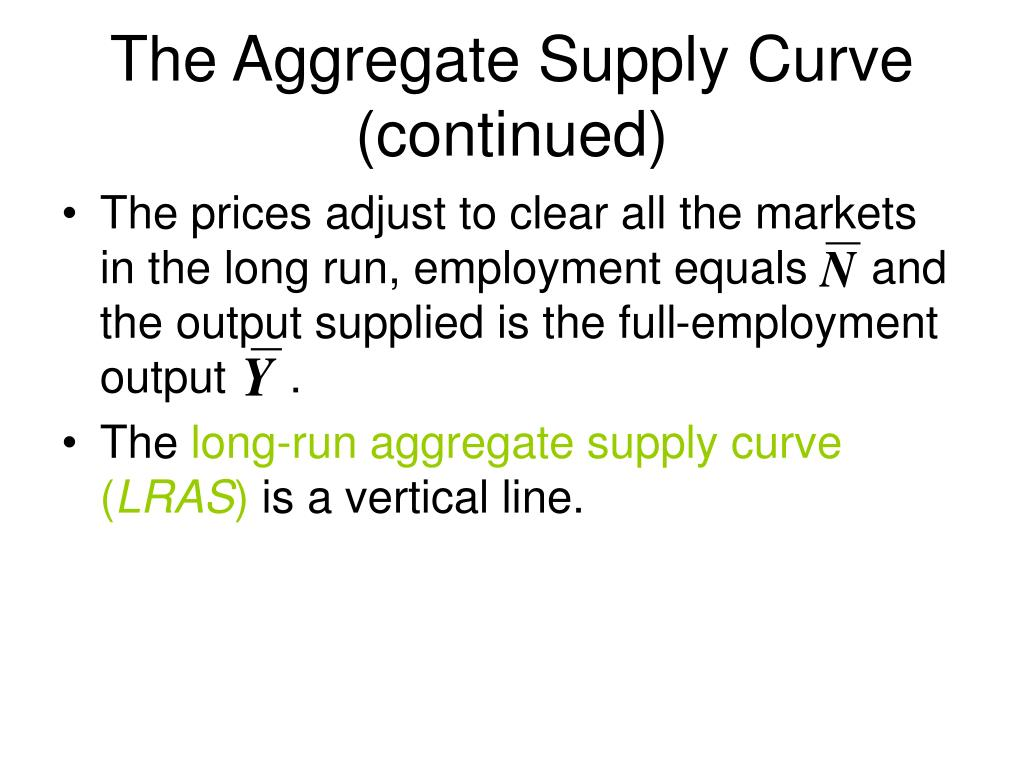The Aggregate Supply Curve (continued)
