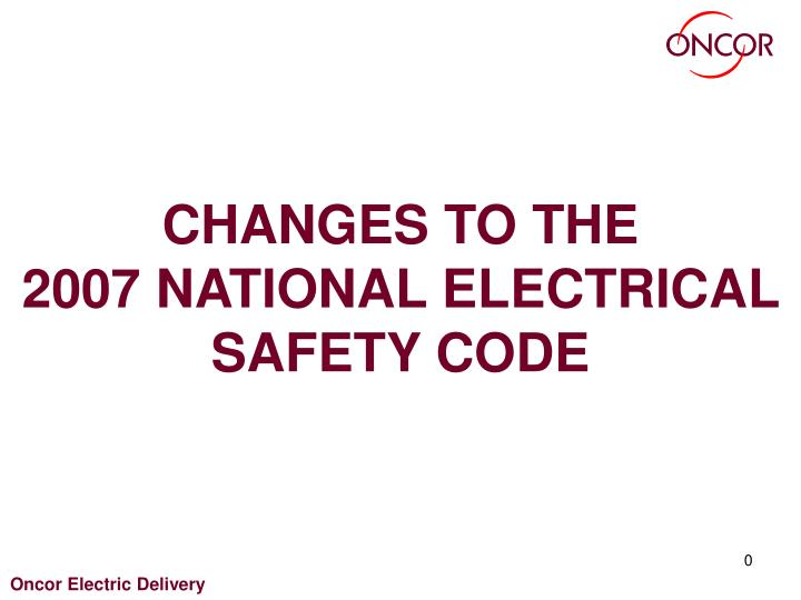 changes to the 2007 national electrical safety code n.
