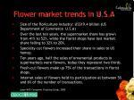 flower market trends in u s a
