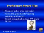 proficiency award tips10