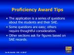 proficiency award tips11