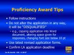 proficiency award tips7