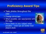 proficiency award tips8