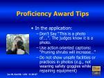 proficiency award tips9