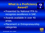 what is a proficiency award