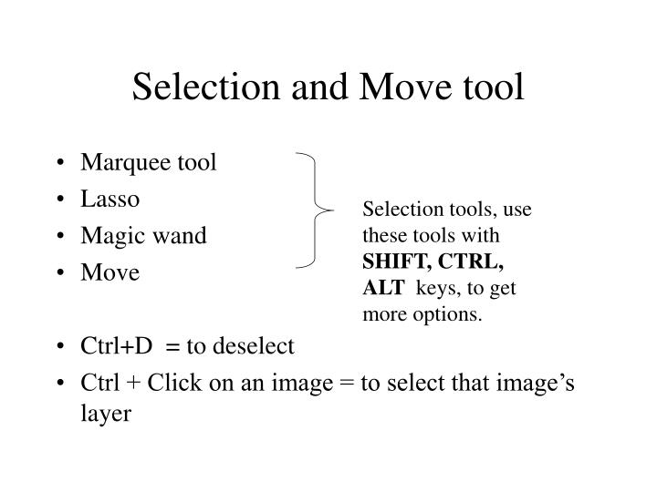 Selection and Move tool