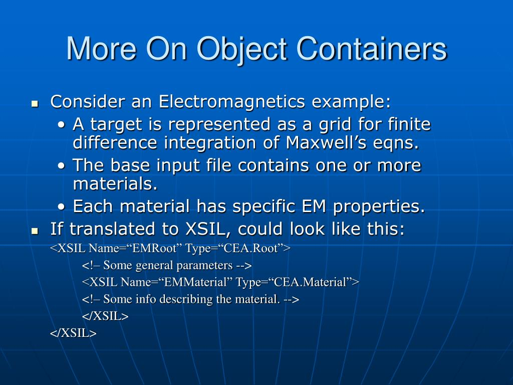 More On Object Containers