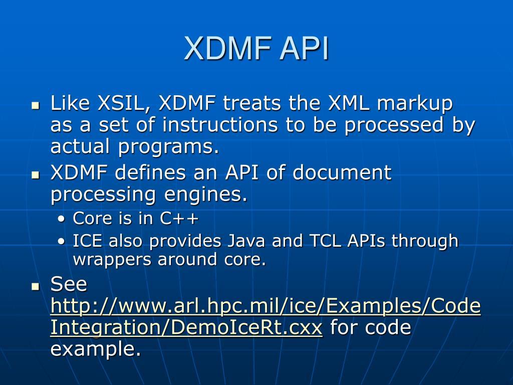 XDMF API