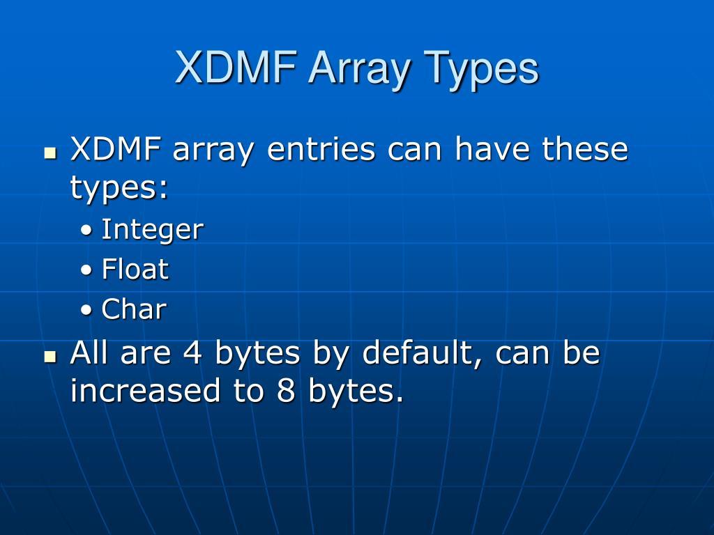 XDMF Array Types