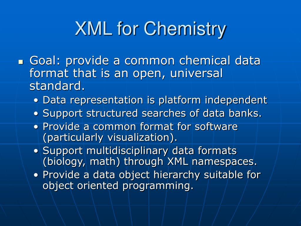 XML for Chemistry
