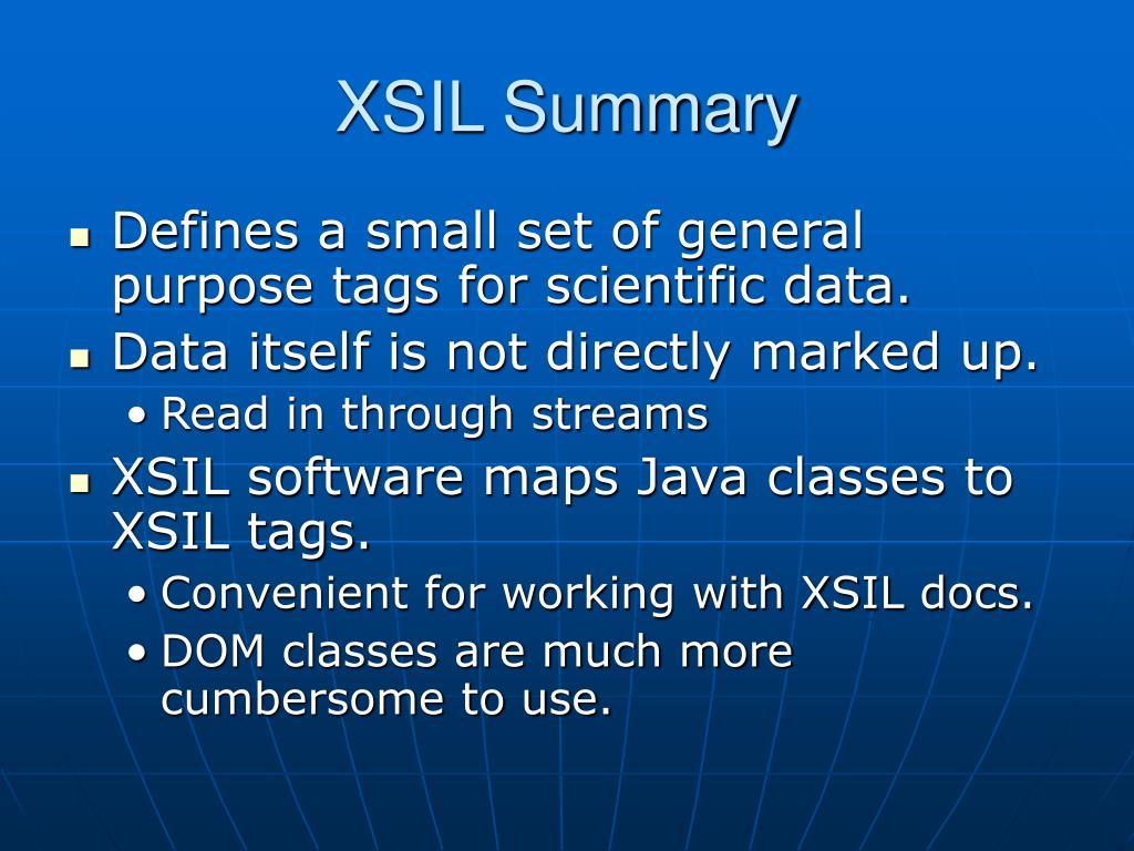 XSIL Summary