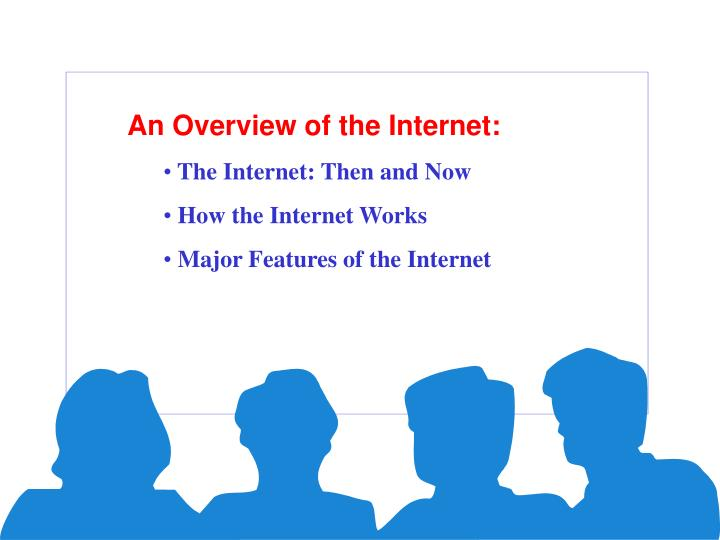 an overview of the different ways to get to the internet