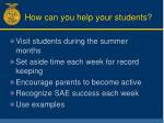 how can you help your students