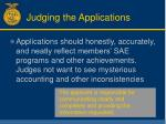 judging the applications19
