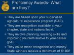 proficiency awards what are they