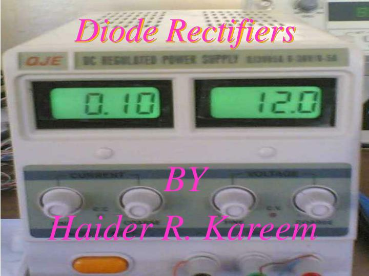 diode rectifiers n.