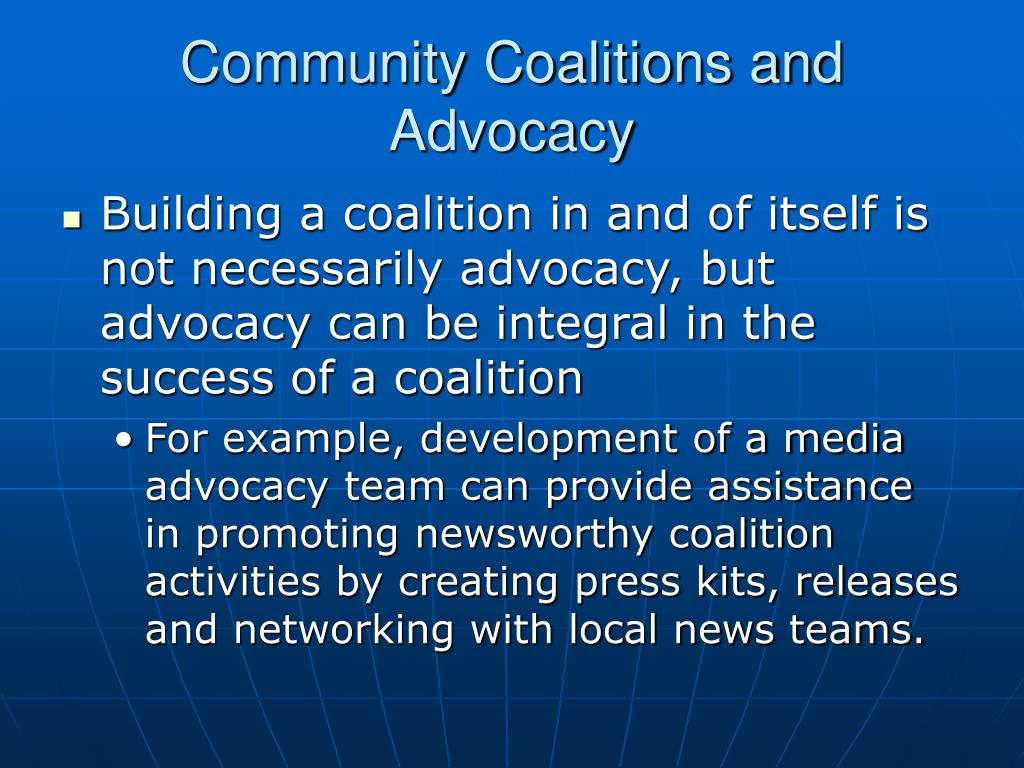 Community Coalitions and Advocacy