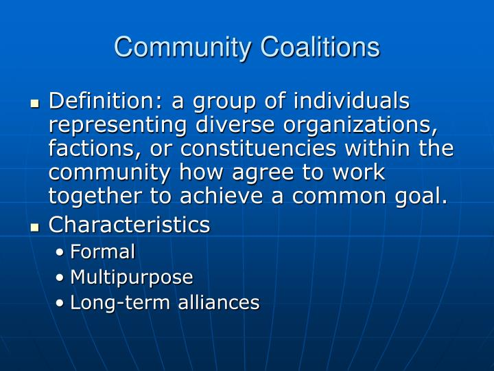 Community coalitions