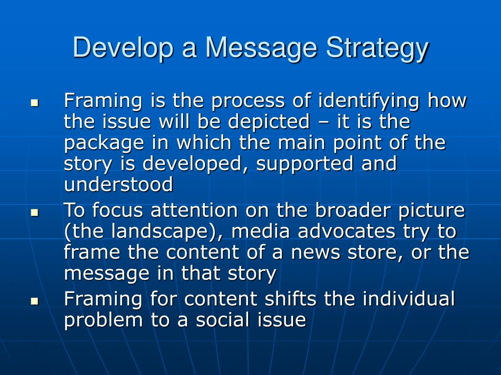 Develop a Message Strategy