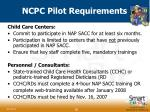 ncpc pilot requirements36