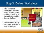 step 3 deliver workshops