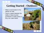 getting started outdoors22