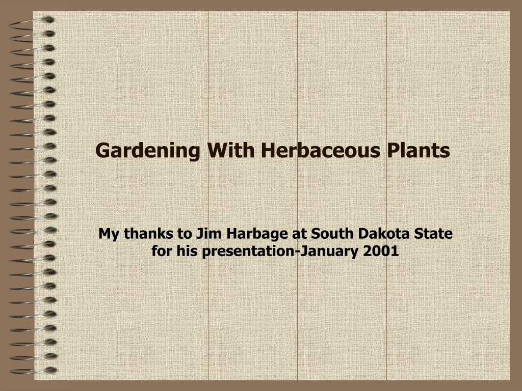 gardening with herbaceous plants l.