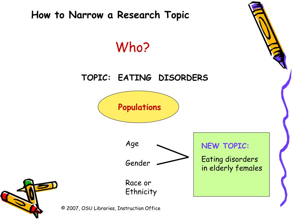 Good research topics about eating disorders