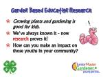 garden based education research
