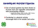 gardening and nutrition exercise