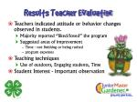 results teacher evaluation