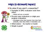 ways to document impact