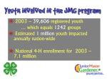 youth involved in the jmg program