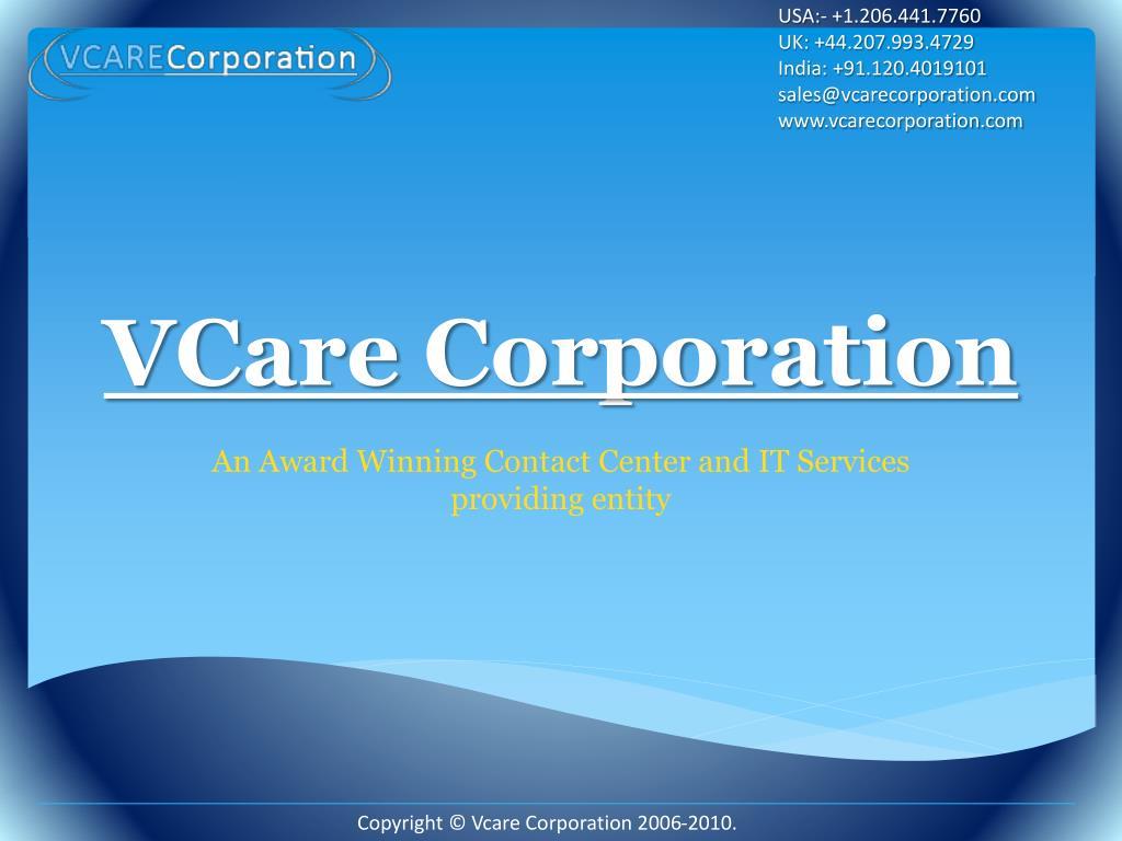 vcare corporation l.