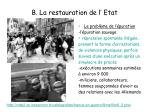 b la restauration de l etat7