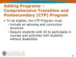adding programs comprehensive transition and postsecondary ctp program36