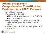 adding programs comprehensive transition and postsecondary ctp program37