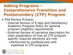 adding programs comprehensive transition and postsecondary ctp program40