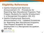 eligibility references6