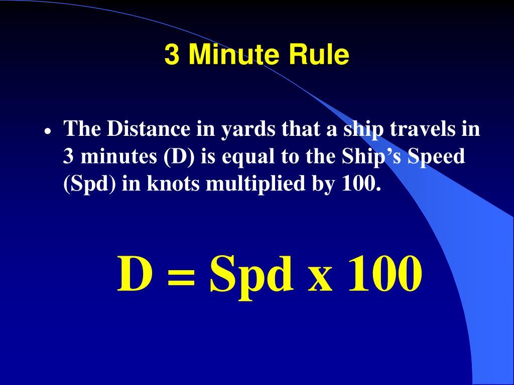 3 Minute Rule
