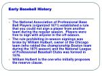 early baseball history