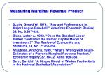 measuring marginal revenue product