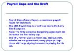 payroll caps and the draft
