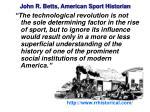 john r betts american sport historian